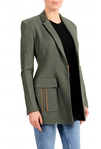 Versace Women's Green Silk Two Button Blazer Jacket: Picture 2