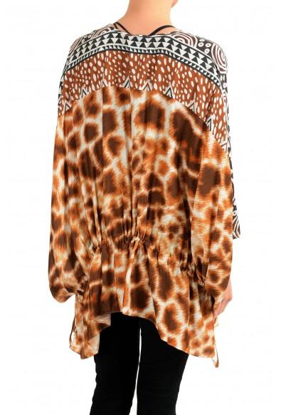 Just Cavalli Women's Graphic Designed Silk Tunic Blouse Top: Picture 2