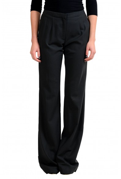 Viktor & Rolf Wool Black Women's Casual Pants