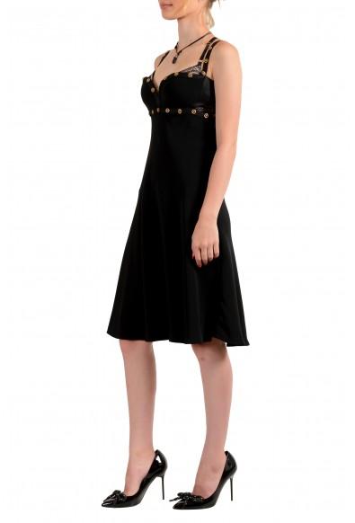 Versace Tribute Women's Black 100% Silk Sleeveless Mini A-Line Dress: Picture 2