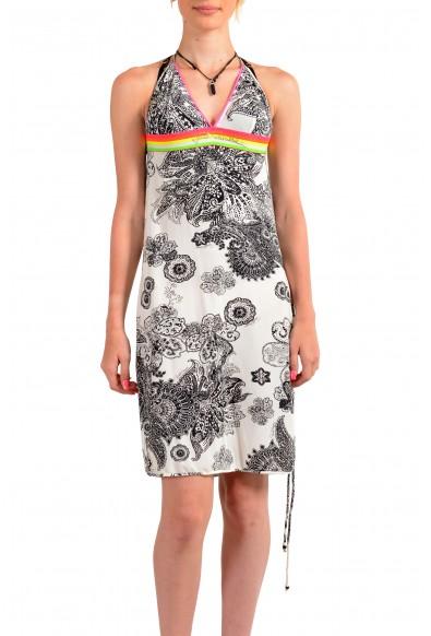 Just Cavalli Women's Multi-Color Stretch A-Line Sundress Dress