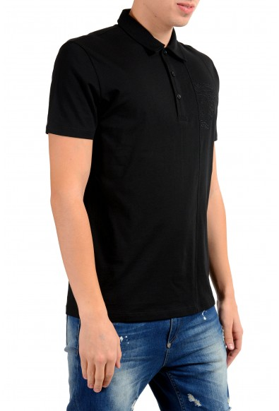 Versace Collection Men's Black Short Sleeve Polo Shirt : Picture 2