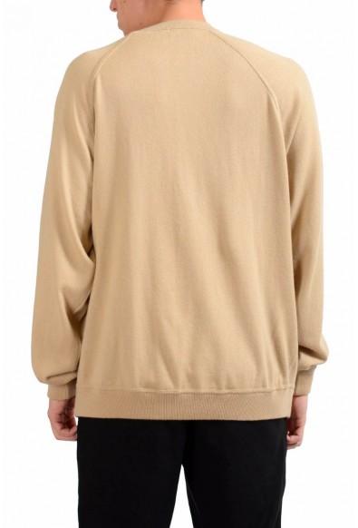 Malo Men's Beige Crewneck 100% Cashmere Pullover Sweater: Picture 2