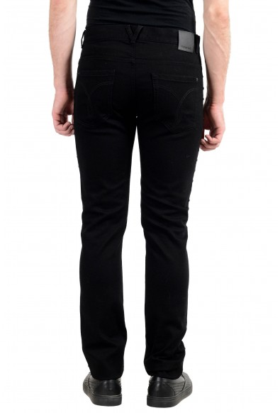 Versace Men's Black Stretch Beads Decorated Taylor Fit Slim Jeans: Picture 2