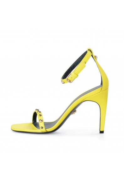 Versace Women's Yellow Leather High Heel Ankle Strap Sandals Shoes: Picture 2