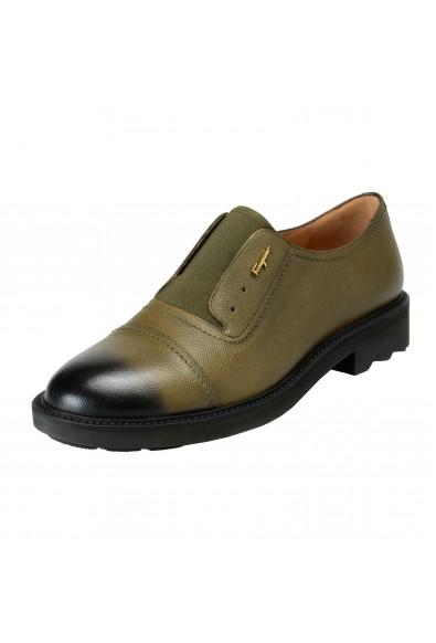 """Salvatore Ferragamo Women's """"Ferdy"""" Green Pebbled Loafers Slip On Shoes"""