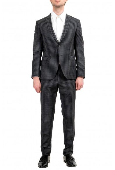 "Hugo Boss ""Reymond/Wenten"" Men's 100% Wool Plaid Extra Slim Two Button Suit"