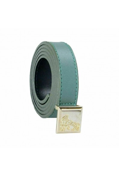 Versace Collection 100% Leather Green Women's Belt