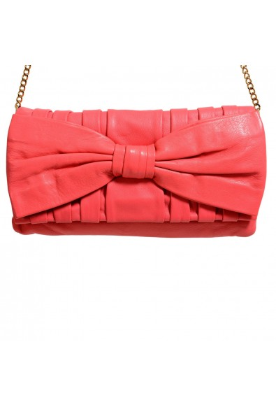 Red Valentino Women's Pink 100% Leather Bow Decorated Clutch Shoulder Bag: Picture 2