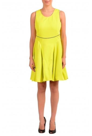 Just Cavalli Women's Bright Yellow Fit & Flare Sleeveless Dress