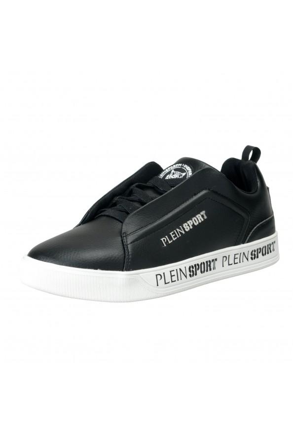 "Plein Sport ""John"" Black Slip On Fashion Sneakers Shoes"