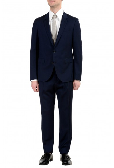 "Hugo Boss ""Nylen/Pery"" Men's 100% Wool Slim Dark Blue Two Button Suit"