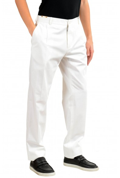 Dolce & Gabbana Men's White Pleated Dress Pants: Picture 2