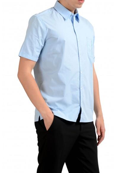 Fendi Men's Light Blue Short Sleeve Dress Shirt: Picture 2