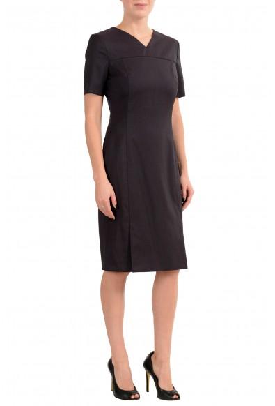 "Hugo Boss ""Denisia"" Women's 100% Wool Short Sleeve Sheath Dress: Picture 2"