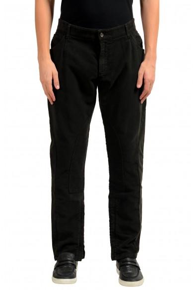 Dolce & Gabbana Men's Brown Zip Up Casual Pants