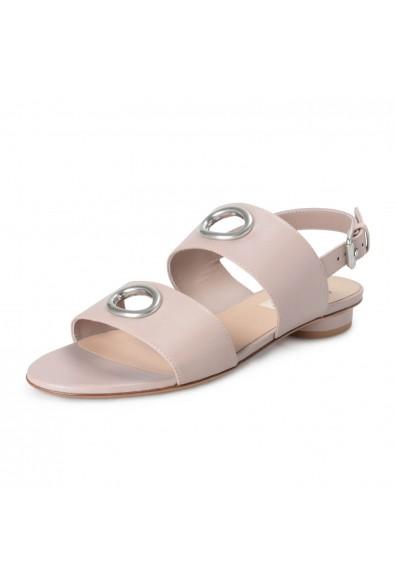 Valentino Garavani Women's Beige Leather Flat Sandals Shoes