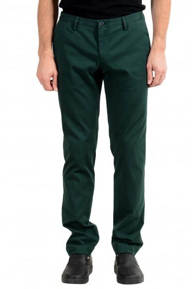 "Hugo Boss ""Stanino16-W"" Men's Green Slim Stretch Casual Pants"