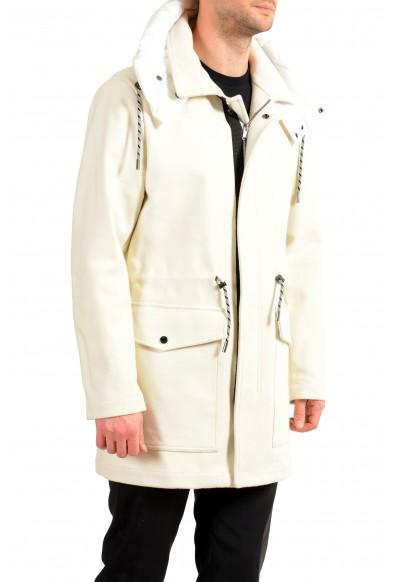 "Hugo Boss Men's ""Creslo"" Wool Ivory Hooded Full Zip Jacket Coat: Picture 2"