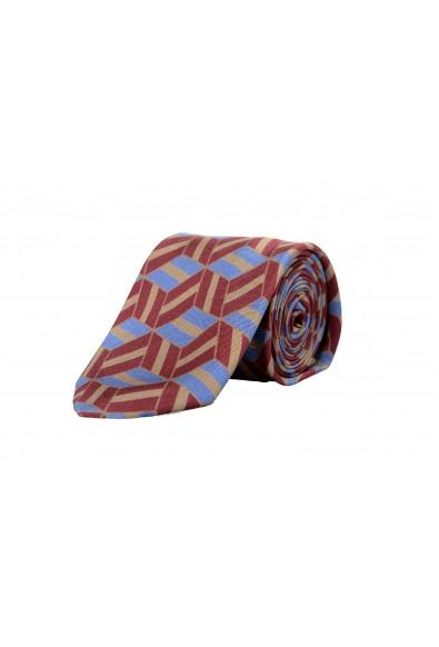 Prada Men's UCR77 Multi-Color Geometric Print 100% Silk Tie