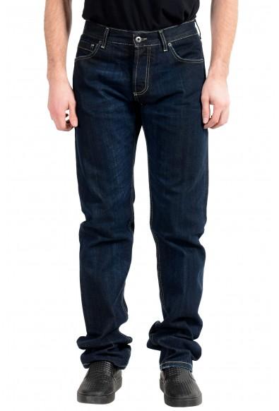 Exte Men's Dark Blue Straight Leg Jeans