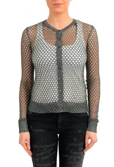 Maison Margiela Women's Sparkling See Through Cardigan Sweater