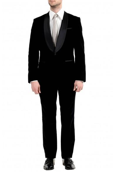 "Hugo Boss ""Herwyn/Gewon"" Men's Tuxedo Velour One Button Slim Suit"