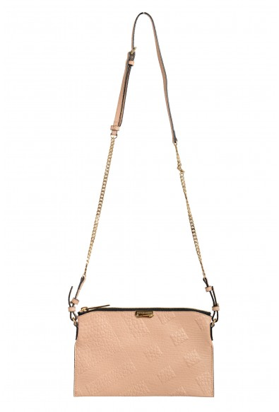 Burberry Women's Pale Apricot Textured Leather Crossbody Shoulder Bag