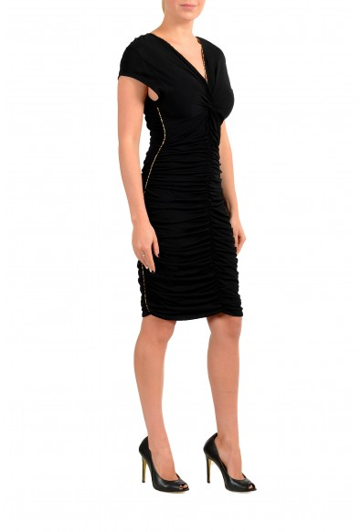 Just Cavalli Women's Black Cup Sleeve Bodycon Dress: Picture 2