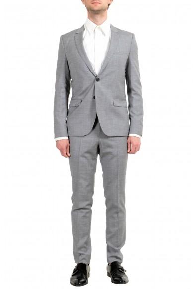 "Hugo Boss ""Arti/Hesten182"" Men's 100% Wool Gray Extra Slim Two Button Suit"
