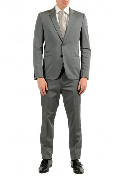 """Hugo Boss """"Arlid1/Heilon1"""" Men's Gray Stretch Two Button Suit"""