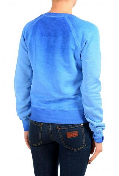 Dsquared2 Women's Blue V-Neck Sweatshirt: Picture 2