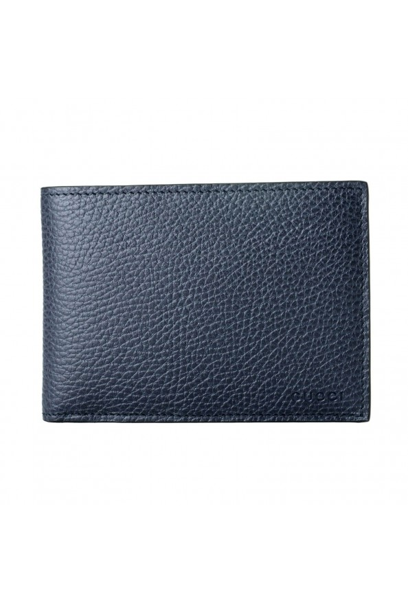 Gucci 100% Leather Navy Men's Bifold Wallet