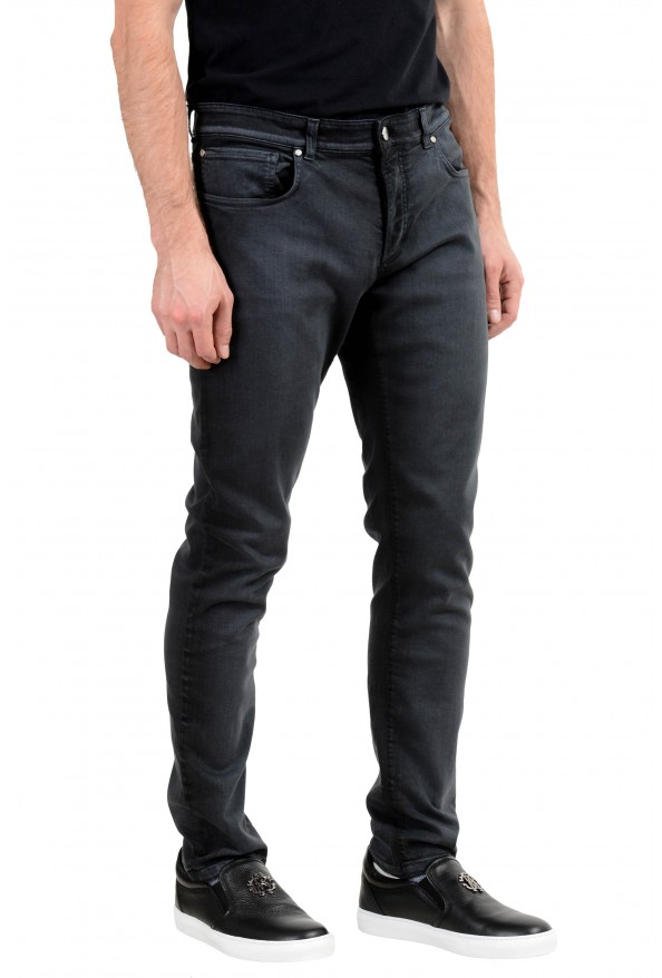 Versace Collection Men's Gray Slim Jeans: Picture 2