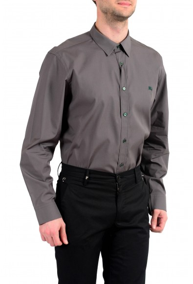 Burberry Men's Gray Long Sleeve Button Down Shirt: Picture 2
