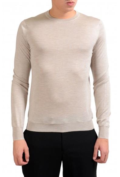 Malo Men's Silk Cashmere Beige Light Pullover Sweater