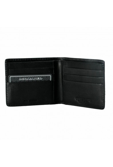 Dsquared2 Men's Black Textured Leather Bifold Wallet: Picture 2