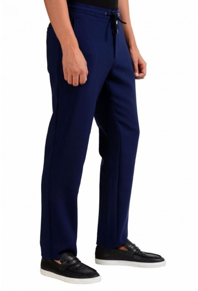 Versace Collection Stretch Men's Dark Blue Casual Pants : Picture 2