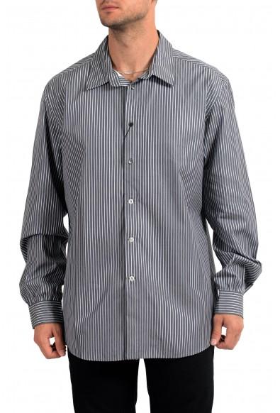 Yves Saint Laurent Men's Striped Long Sleeve Dress Shirt