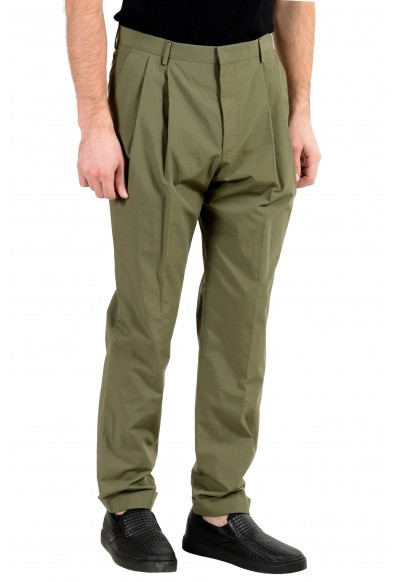 """Hugo Boss """"Orville"""" Men's Green Relaxed Fit Pleated Casual Pants: Picture 2"""
