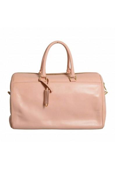 Saint Laurent Women's Pink Calfskin Leather Classic Duffle 12 Bag: Picture 2