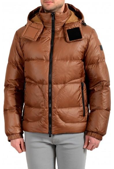 "Hugo Boss Men's ""Dolera"" Brown Hooded Down Parka Jacket"