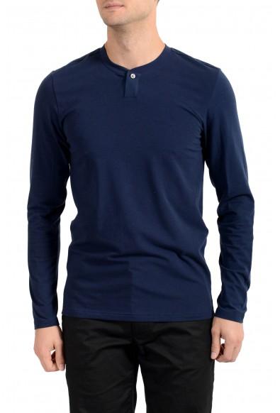 Versace Underwear Men's Blue Long Sleeve T-Shirt