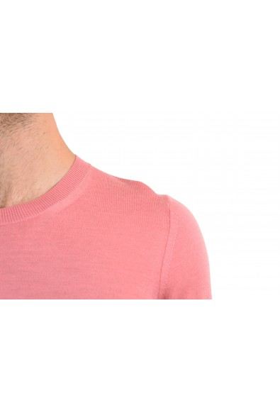 Burberry Men's 100% Wool Pink Crewneck Sweater: Picture 2