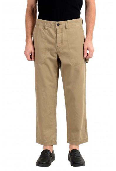 "Hugo Boss ""Salt"" Men's Beige Cropped Casual Pants"
