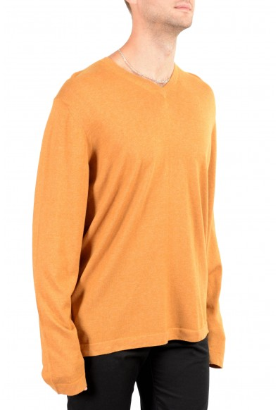 Malo Men's Brown Cashmere Long Sleeve V-Neck Pullover Sweater: Picture 2