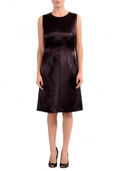 "Hugo Boss ""Dula"" Women's Dark Brown Sleeveless Sheath Dress"