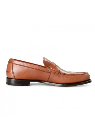 Salvatore Ferragamo Men's France Brown Leather Loafers Slip On Shoes: Picture 2