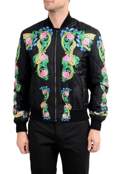 Versace Men's Multi-Color Silk Lightly Insulated Windbreaker Jacket