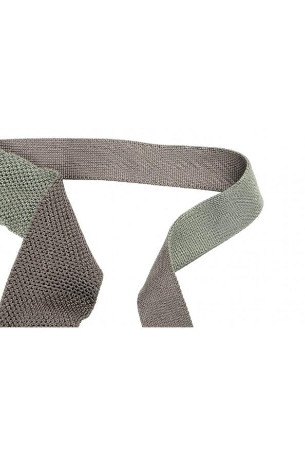 Hugo Boss Men's Sage Green 100% Silk Square End Tie: Picture 2